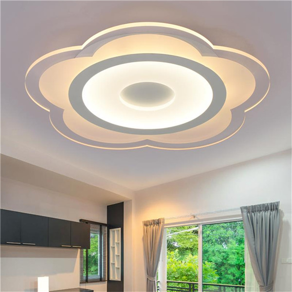 15W Modern Flower Shape Acrylic LED Ceiling Lights Living Room Bedroom Home Lamp AC220V