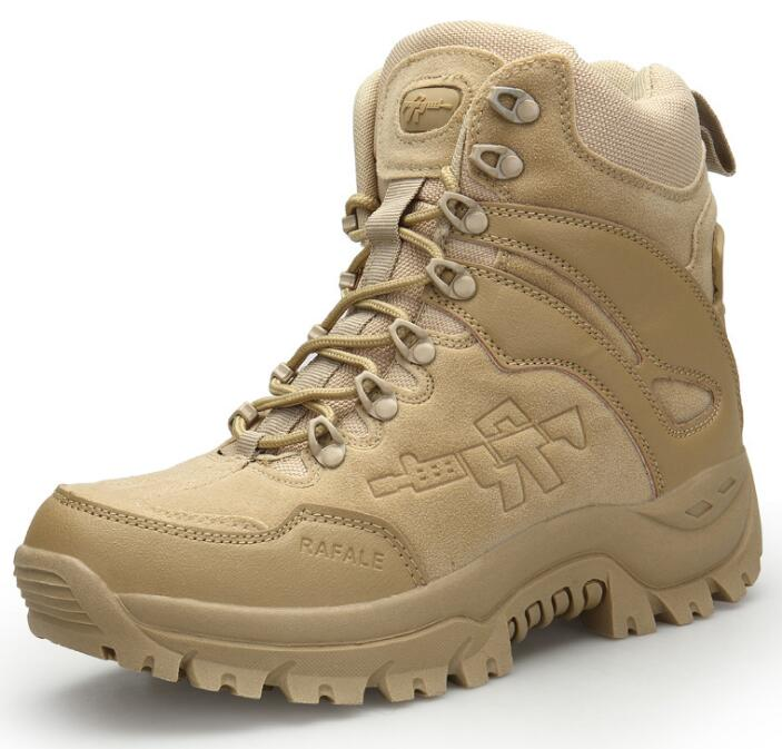 Outdoor Men's Military Tactical Ankle Martin Boots Combat Army Desert Jungle Hiking Shoes