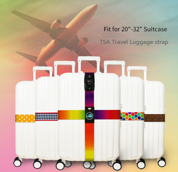 Honana TSA Lock Cross Luggage Strap Suitcase Belts Travel Tags Accessories Fit for 20