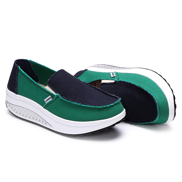 Women Sport Running Rocker Sole Shoes Casual Outdoor Slip On Flats