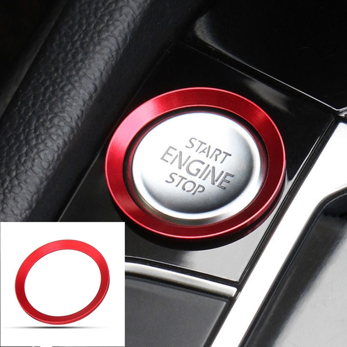 Car Start Engine Stop Button Cover Trim Red for VW Golf 7 MK7 GTI R Jetta CC Arteon