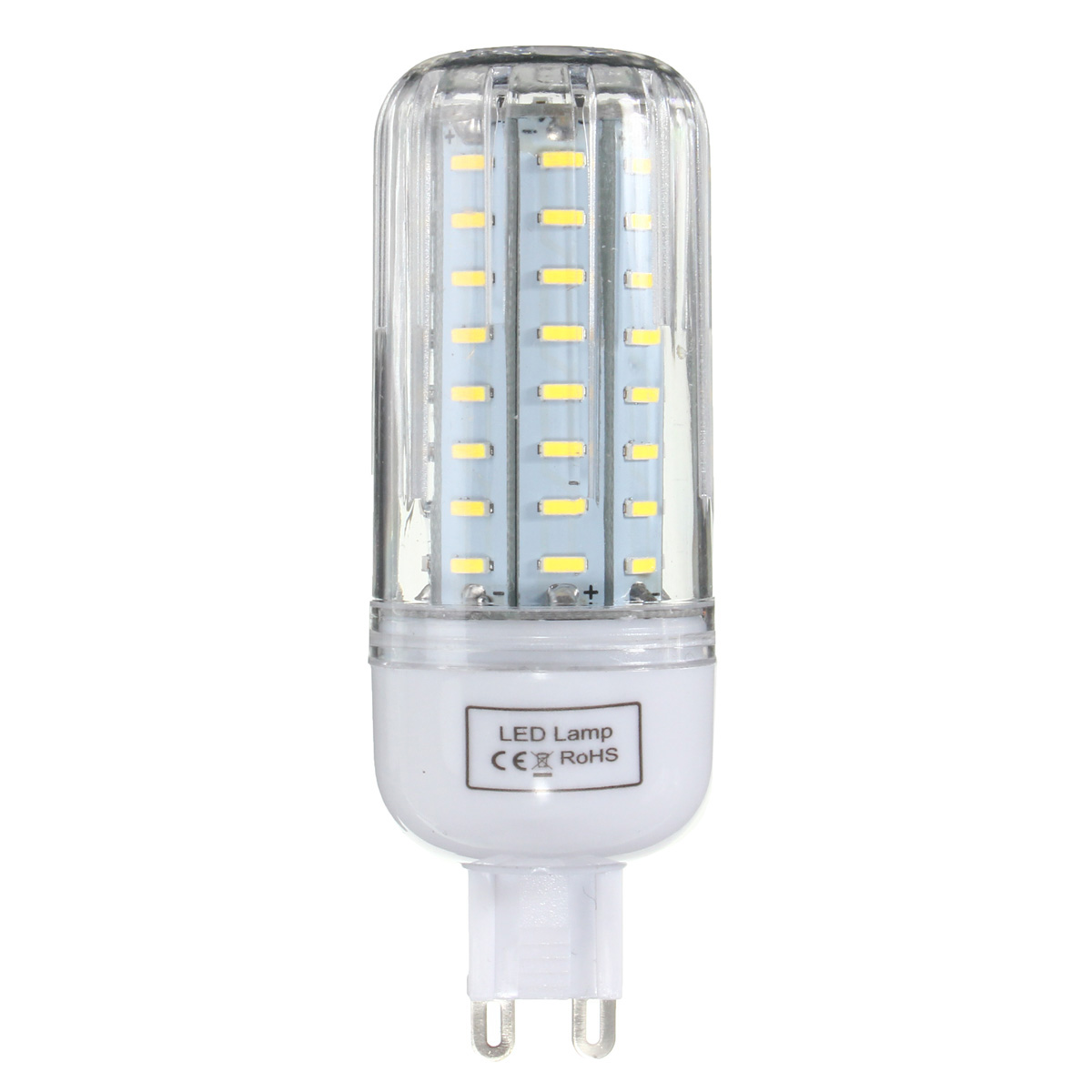 E27 E14 E12 B22 G9 GU10 7W 72 SMD 4014 LED Warm White Pure White Cover Corn Bulb AC110V