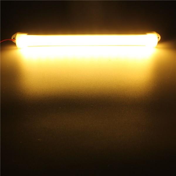 15LED 12V SMD 5630 LED Strip Light Tube Hard Yellow White Milky White Cover