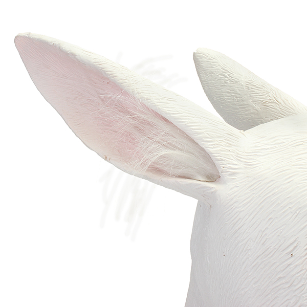 Rabbit Mask Creepy Animal Halloween Costume Theater Prop Party Cosplay Deluxe Latex
