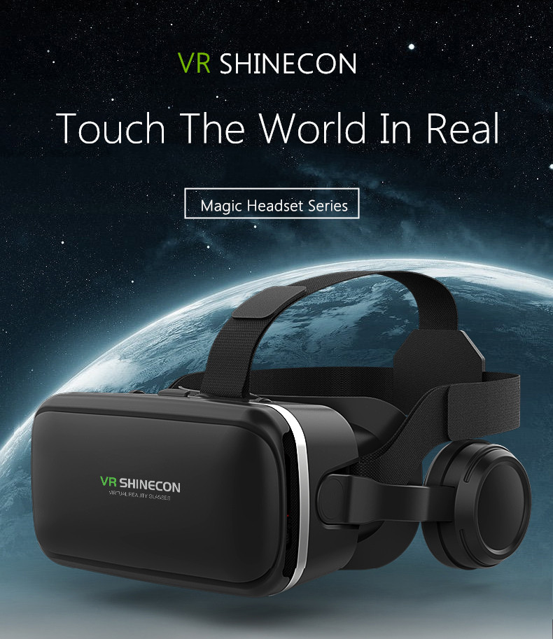 Bakeey VR Shinecon 6.0 360 Degree Stereo 3D Virtual Reality Glasses Box Headset for 4.7-6.0 inch Smartphone