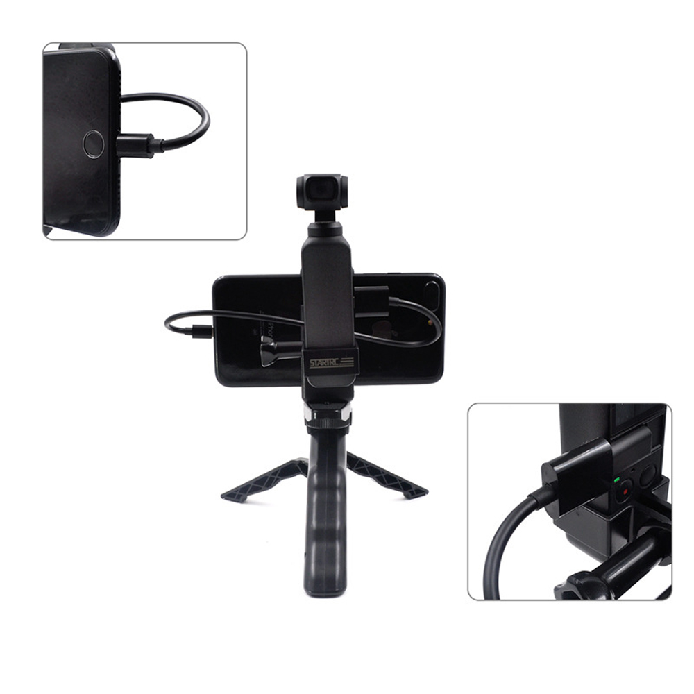 STARTRC Metal Phone Clip Holder With Tripod For DJI OSMO Pocket Handheld FPV Camera - Photo: 10