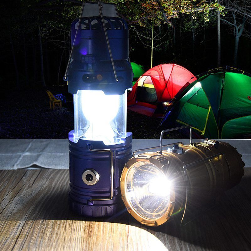 3 In 1 Solar Camping Tent Fan Lantern USB Rechargeable Flashlight Torch Portable Hand Lamp
