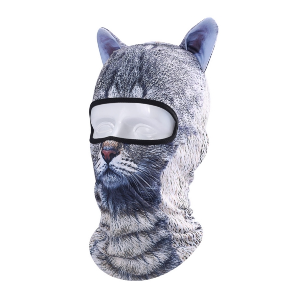 Unisex Motorcycle Face Mask 3D Animal Ear Balaclava Neck Hood For Halloween Christmas Party Skiing