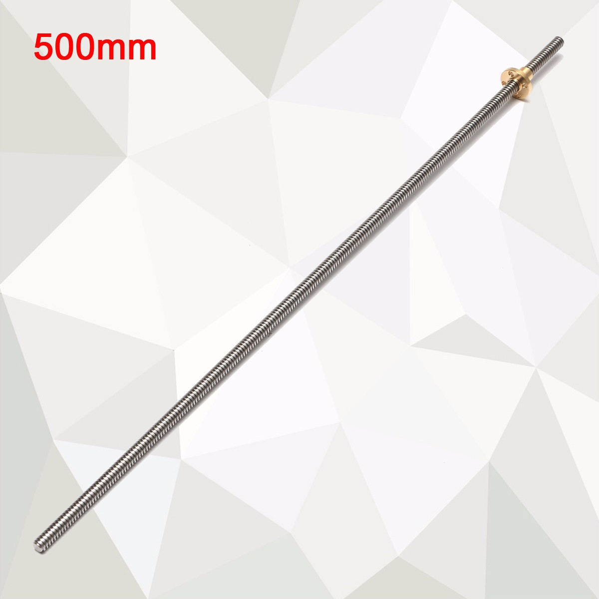 8mm 300/400/500/600mm Lead 2mm Stainless Steel Lead Screw + T8 Nut For CNC 3D Printer Reprap