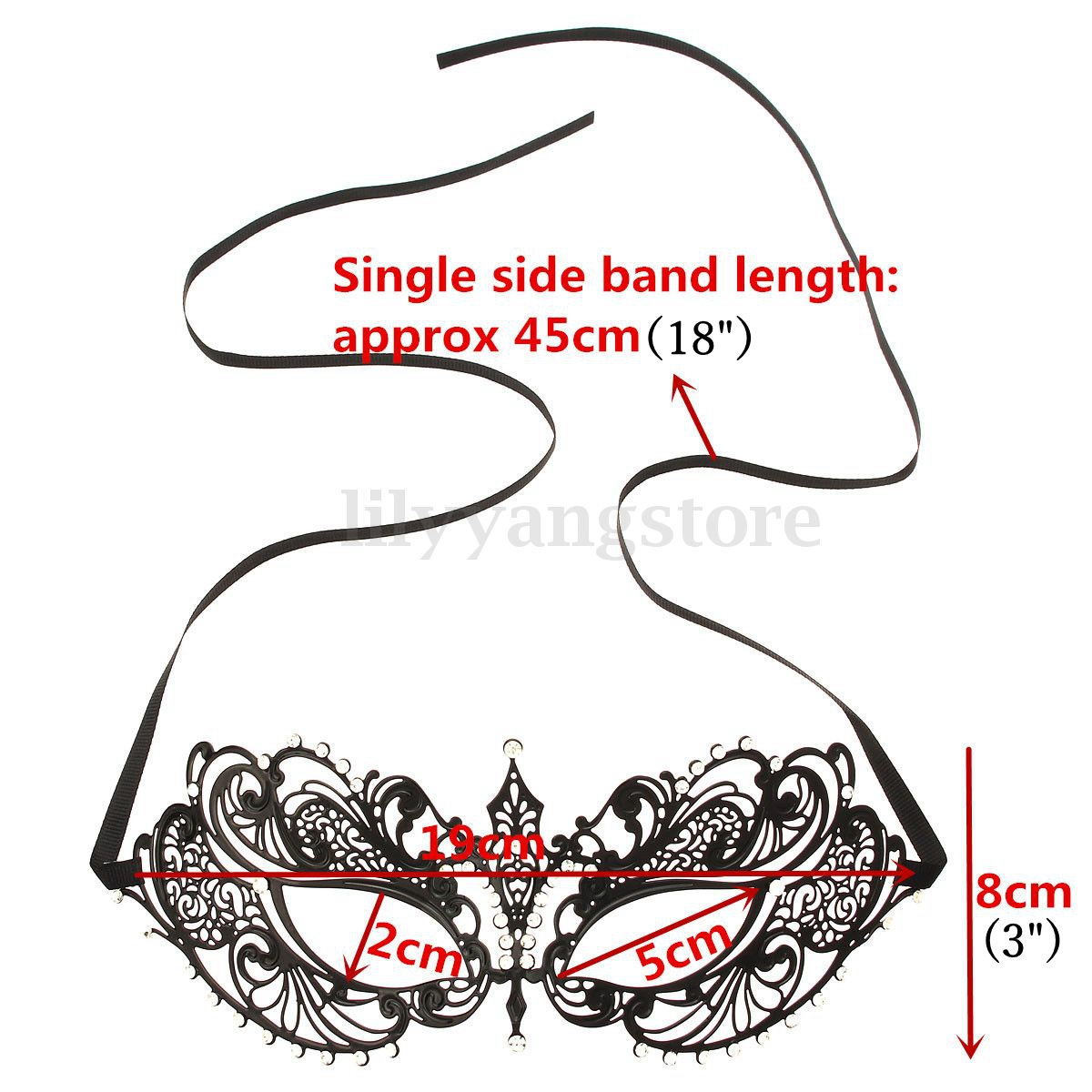 Rhinestone Sexy Women Lady Dress Masquerade Party Mask Ornament