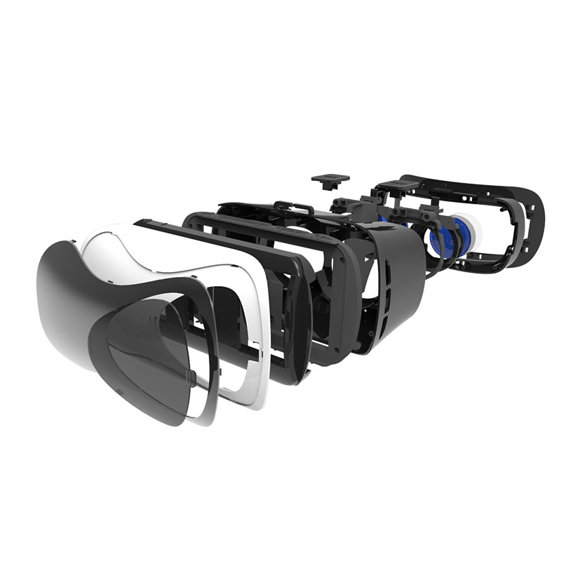 UGP V5 3D Virtual Reality Glasses Immersive Head-mounted With Gamepad For 3.5-6.0 Inch Smartphones