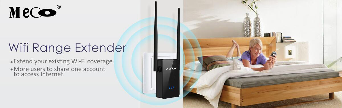 MECO AC750 750Mbps Dual Band 2.4G 5.8G WiFi Repeater Signal Extender Support Repeater AP Router Mode