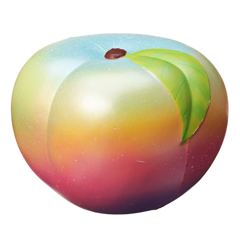 Puni Maru 22cm 8.6 Inches Humongous Peach Squishy Huge Slow Rising Fruit Toy Rainbow Color With Packing