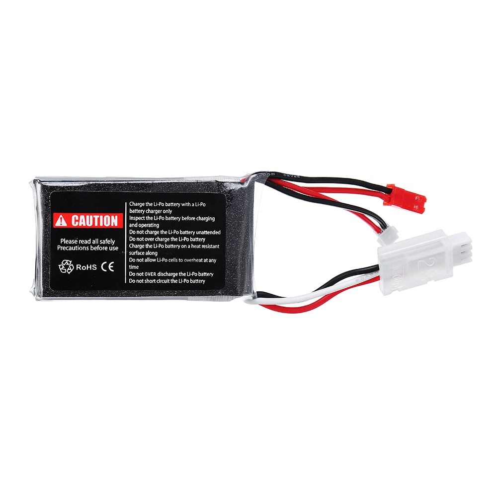 URUAV 7.4V 550mAh 70C 2S Lipo Battery JST Plug for Eachine Aurora 90 100 - Photo: 4