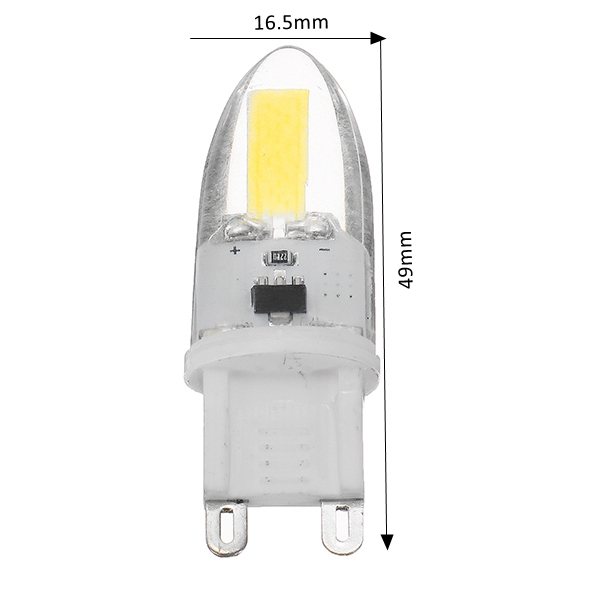 G9 1.8W Dimmable COB1505 180LM Warm White Pure White LED Light Bulb AC110V AC220V