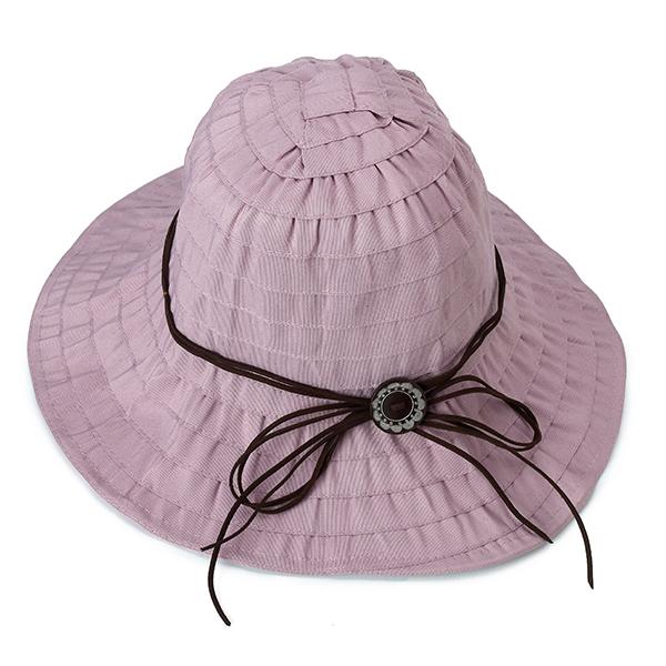 85de87f2770 women summer big brim sunscreen foldable bucket hat at Banggood