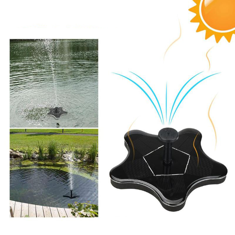 1.4W 5V High Power Floating Solar Fountain Water Pump Solar Panel Plants Watering Pool Garden Pumps Floating Solar Power Fountain Panel Kit Garden Water Pump Pool Watering Wide Irrigation Pumps