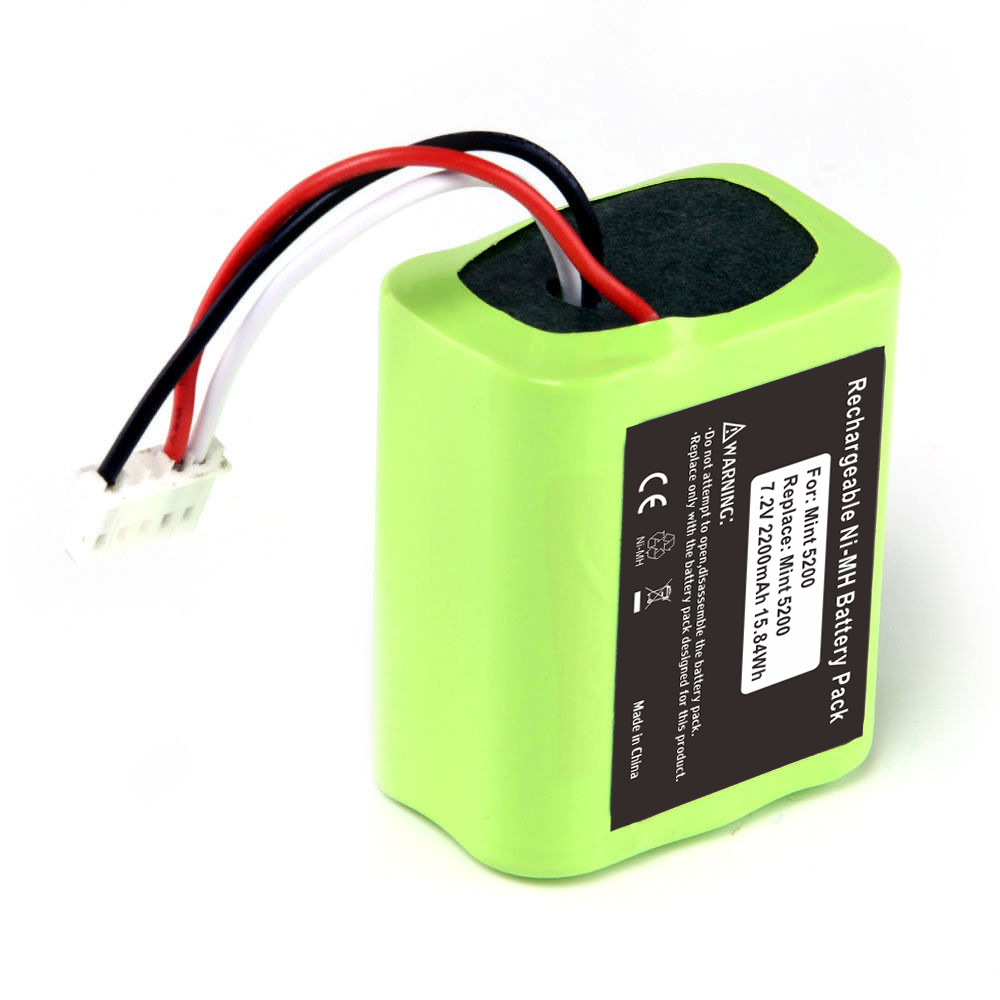 7.2V 2200mAh Ni-MH Replacement Battery Pack For IRobot Roomba Mint 5200 Braava 380t Floor Cleaner
