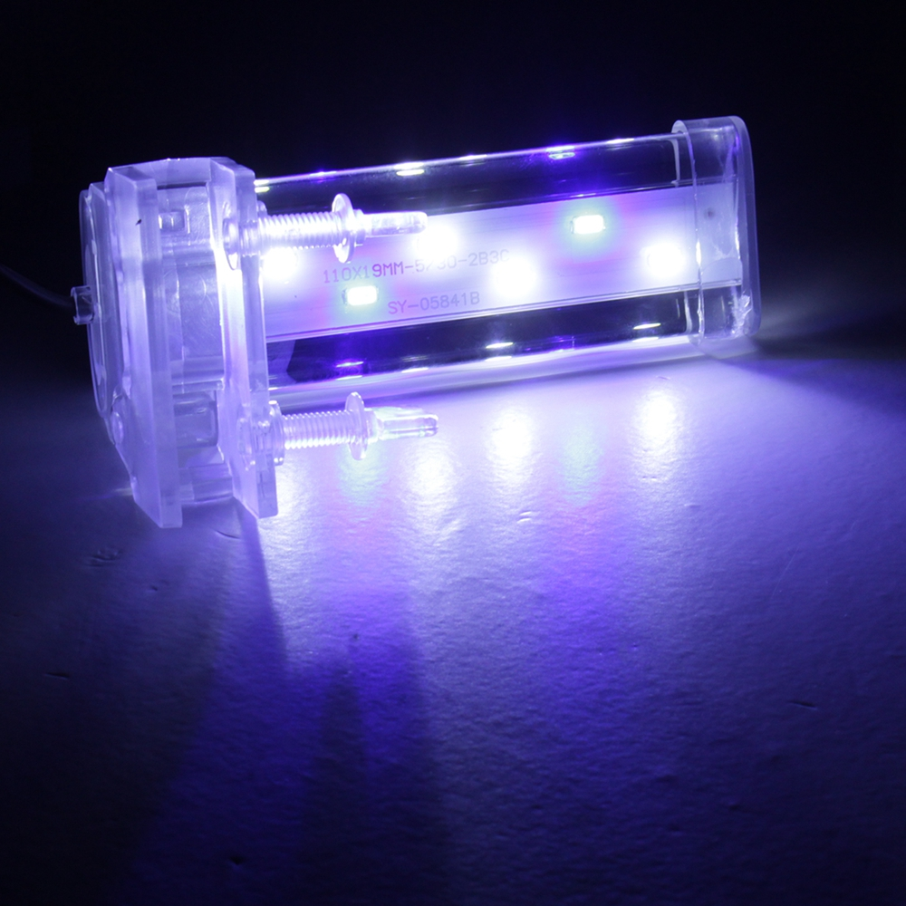 12CM Crystal LED Aquarium Light Clip on Plant Grow Fish Tank Lighting Lamp AC220V