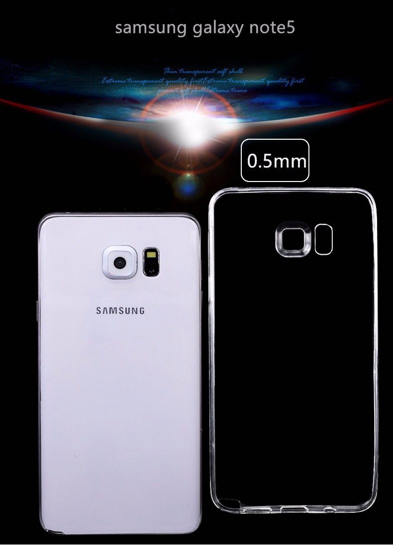 Bakeey™ Ultra Thin Transparent Soft TPU Case for Samsung Galaxy Note 5
