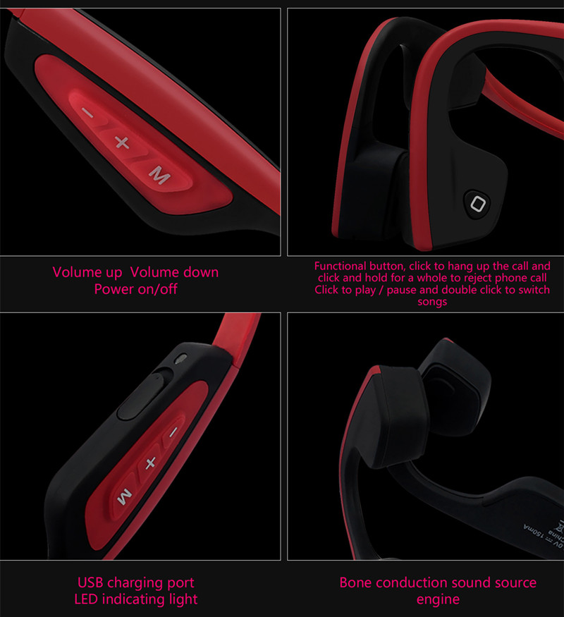 S.Wear LF-19 Intelligent Wireless bluetooth Earphone Bone Conduction Noise Cancelling Bass Headphone