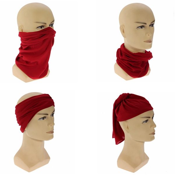 Multi-function Unisex Bandanas Head Wrap Scarf Wrist Band Hat Men Women 9 Colors