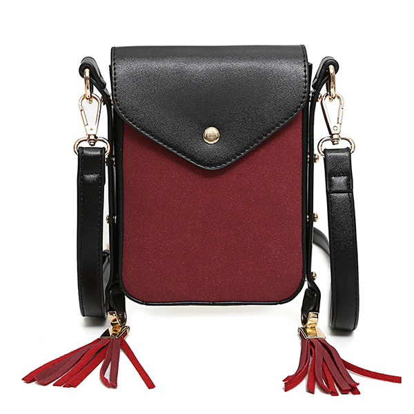 Details: Material PU Leather Color Black, Brown, Red, Green Weight 330g (Approx) Length 13.5cm(5.31') Height 19cm(7.48') Width 3cm(1.18') Package include: 1*Bag More details: Disclaimer: About Size: Size may be 2 cm/1 inch inaccuracy due to hand measure.T #purse