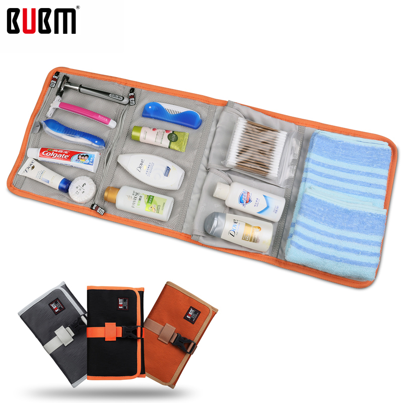 BUBM RDP Folded Travel Organizer Earphones Cable Storage Bag Wash Bag Electronics Accessories Case