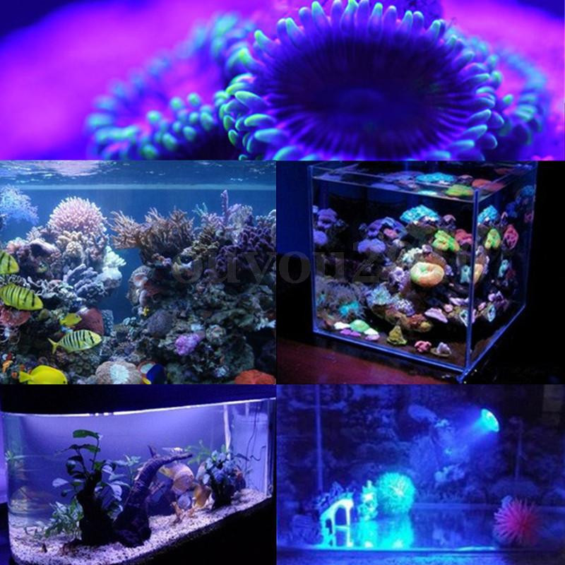 15W E27 LED Coral Reef Plant Grow Light Tank Aquarium Par38 85-265V
