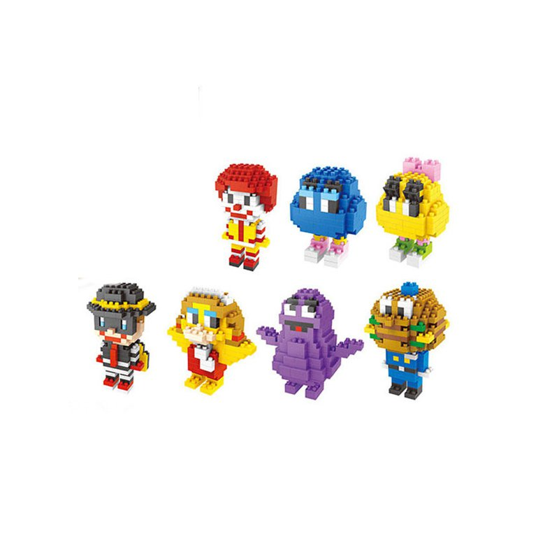 DIY Assembling Building Blocks Bricks Model Cartoon Character Series For Kids Children Chrismas Gift