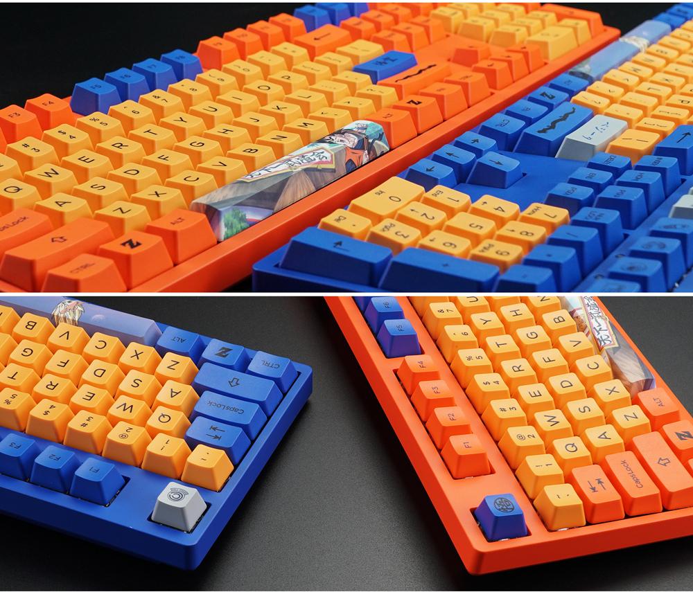 AKKO 3108 V2 DragonBall Z Vegeta 108 Key Dyesub PBT Keycaps Cherry MX Switch Mechanical Gaming Keyboard