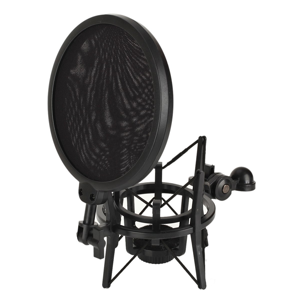Studio Microphone Mic Shock Mount with Pop Filter Mic W