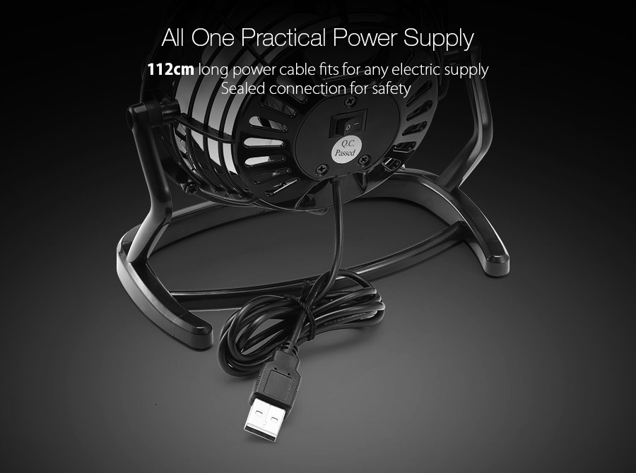 Digoo DF-001 Portable Mini Usb Black Ultra Quiet Desk Cooling Fan Cooler For PC Laptop Notebook
