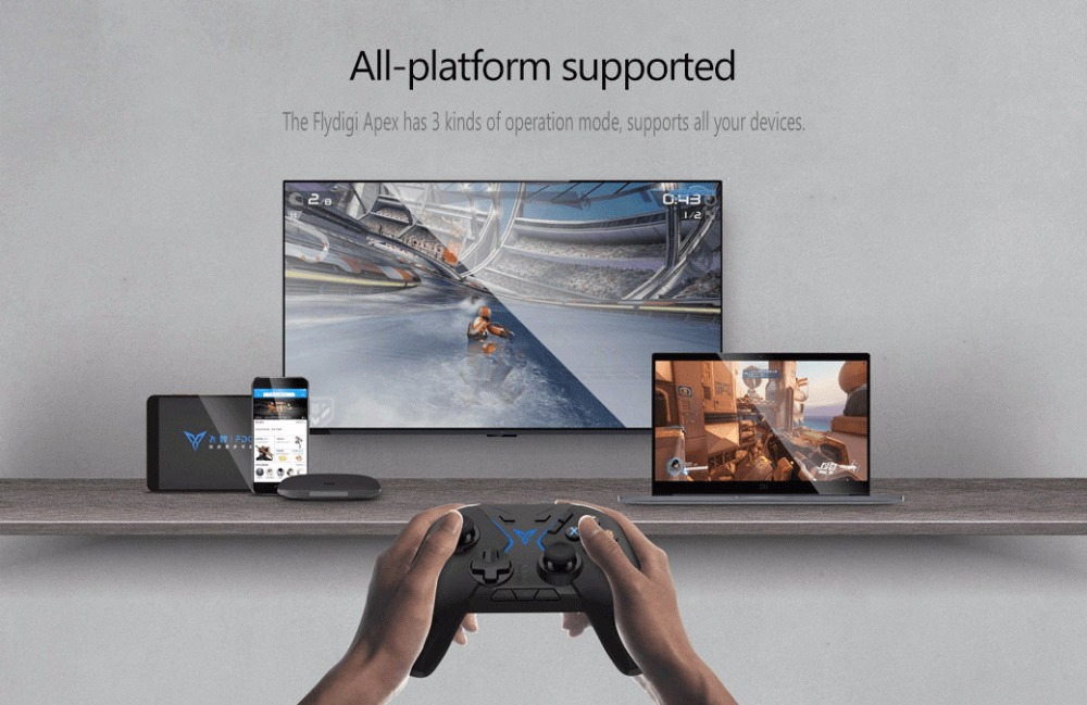 Flydigi APEX bluetooth 2.4G Wireless 6-Axis Flymapping Gamepad for PUBG Mobile Game