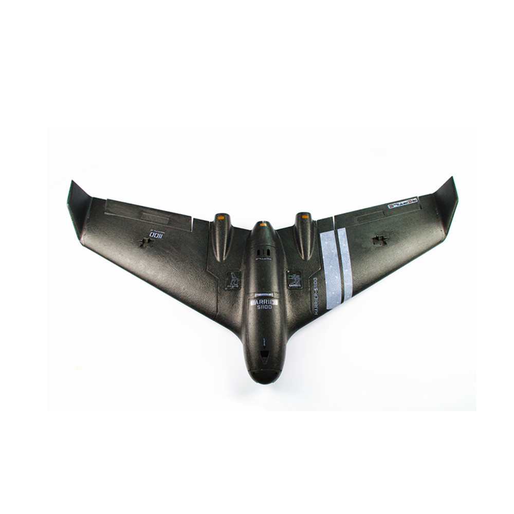 Reptile Harrier S1100 Black 1100mm Wingspan EPP FPV Flying Wing RC Airplane PNP With Gyro - Photo: 5
