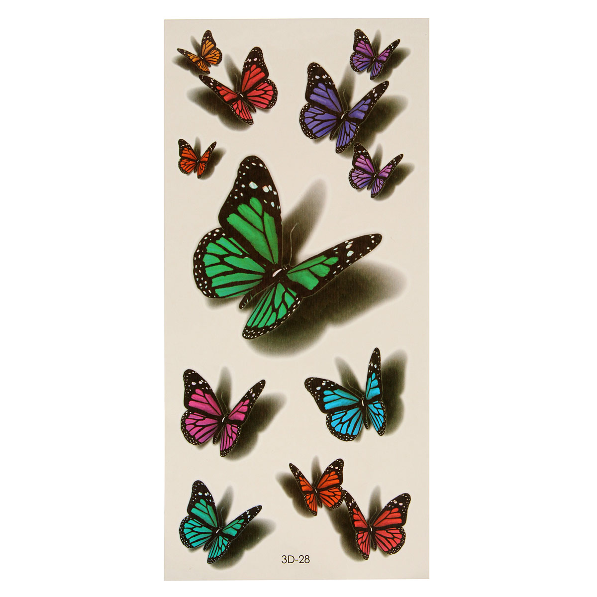 3D Butterfly Flying Design Temporary Tattoo Sticker Dec