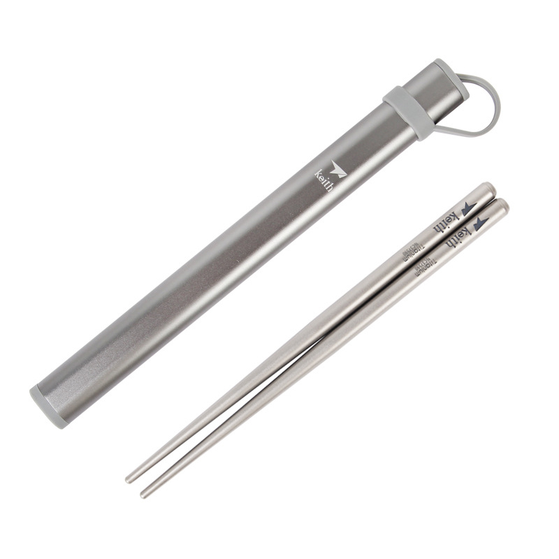 Keith Ti5625 Titanium Ultralight Chopsticks Outdoor Camping Adult Children Portable Tableware