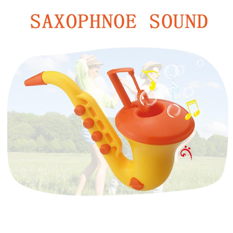 New Saxophone Bubble Machine Soap Bubble Gun Show Kids Blowing Toy Essential In Summer Outdoor Toys