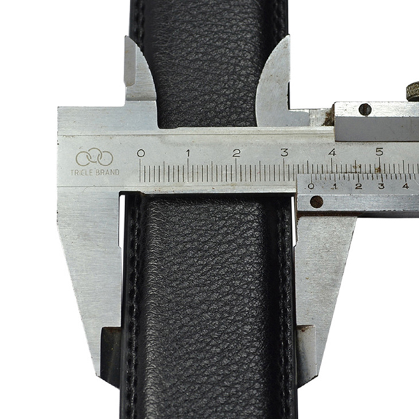 Mens Second Layer Leather Business Belt Fashion Automatic Buckle Waistband Strap