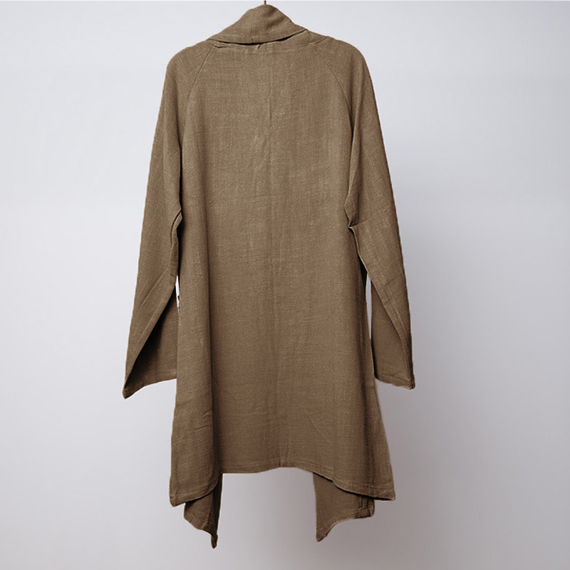 INCERUN Loose Cardigan Cloak Cape Vintage Cotton Coat
