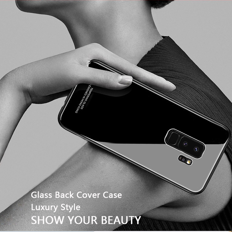 Bakeey Tempered Glass Mirror Back TPU Frame Protective Case for Samsung Galaxy S9/S9Plus