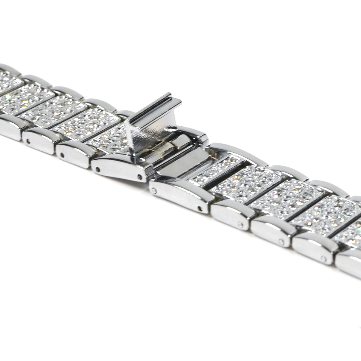 Link Bracelet Watchband Strap Stainless Steel Metal With Frame for Fitbit Blaze