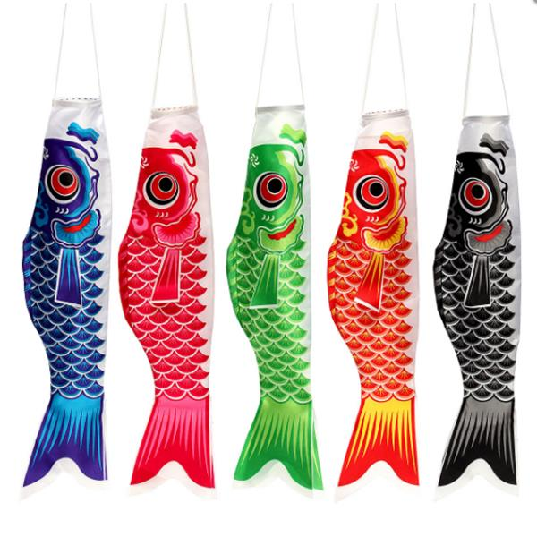 70CM Koi Nobori Carp Flag Wind Sock Koinobori Fish Kite Flag Hanging Decor