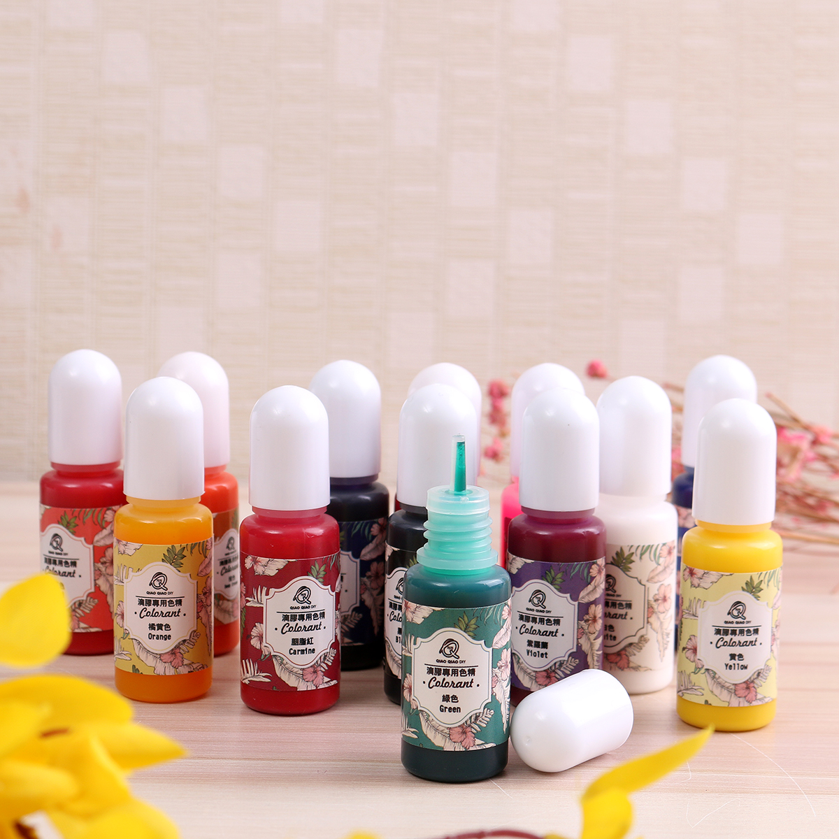 13Pcs Epoxy UV Resin Coloring Dye Colorant Pigment for DIY Craft