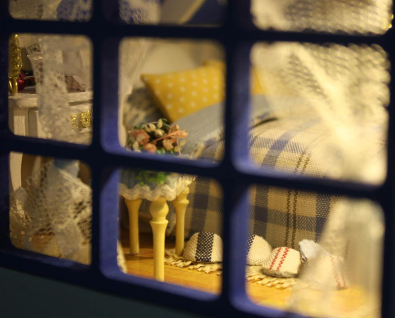CuteRoom A-018-A Romantic Aegean Sea DIY Dollhouse Miniature Model With Light Music Gift Collection