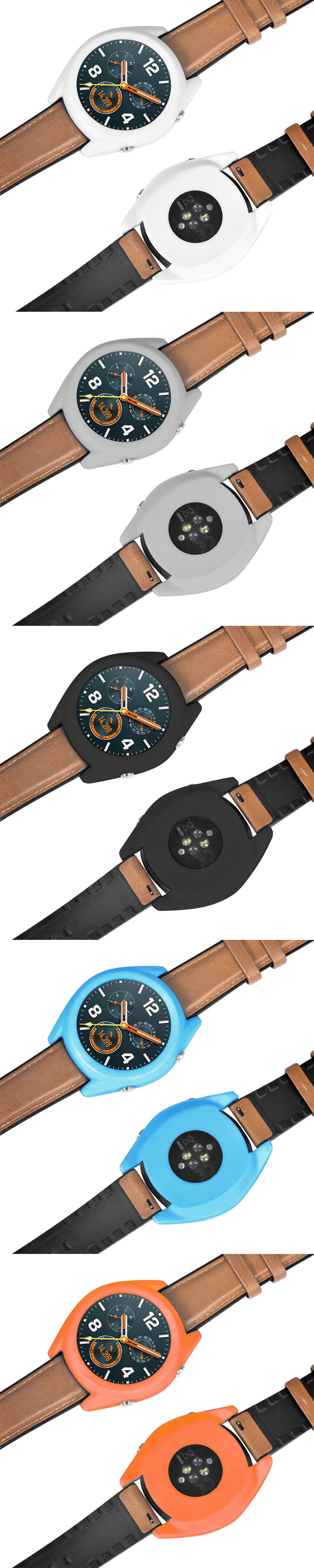 Silicone Pure Color Watch Case Cover Watch Cover Protector for Huawei Watch GT / GT Active