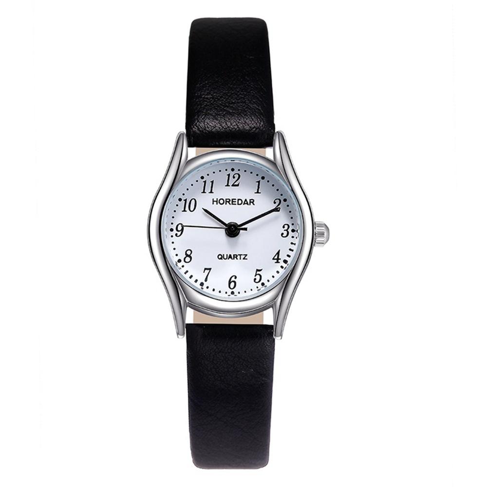 HOREDAR 3079 Retro Style Small Dial Leather Women Watch