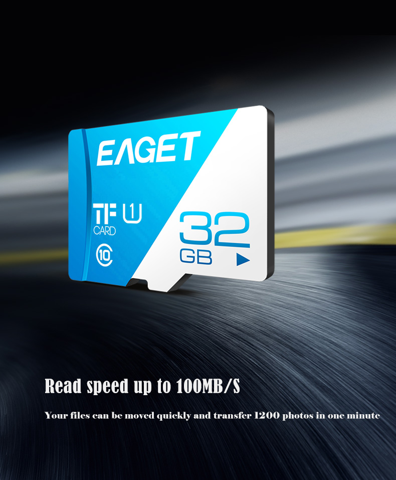 EAGET T1 TF Card Memory Card 16GB/32GB/64GB/128GB Class 10 TF Card