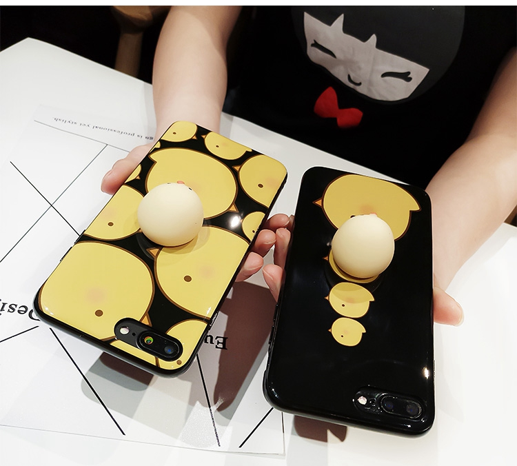 Bakeey™ Cartoon 3D Squishy Squeeze Lay Egg Yellow Chicken Soft TPU Case for iPhone 7&7Plus