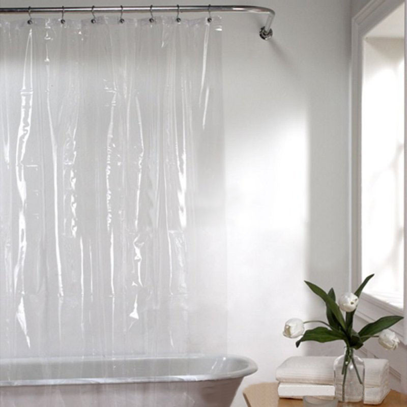 Non-Toxic Mildew Resistant Anti-Bacterial Eco-Friendly PEVA 3G Liner Clear Shower Curtain